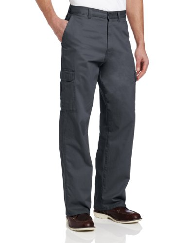 Dickies Men's Loose Fit Cargo Work Pant, Charcoal, 32x30
