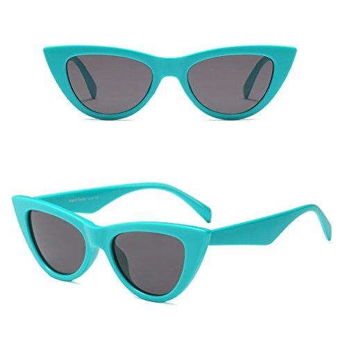 Femmes Étui Rétro Chat Green Protection avec Cadre Lunettes UV Soleil à Zhhlinyuan Classique Lunettes de Yeux 7AwA58q
