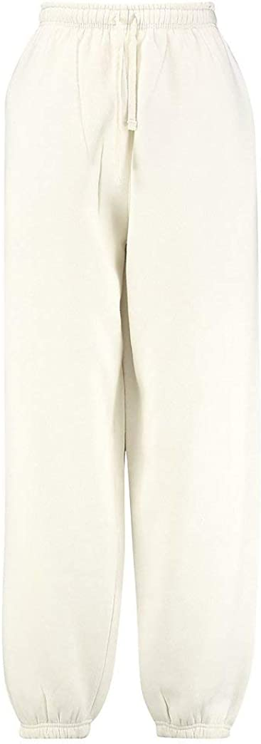 Z C Pantalones Holgados De Forro Polar Para Mujer Mujer Ropa Deportiva