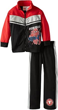 Marvel Little Boys' Ultimate Spiderman Web and Flow Tricot Set, Black, 7