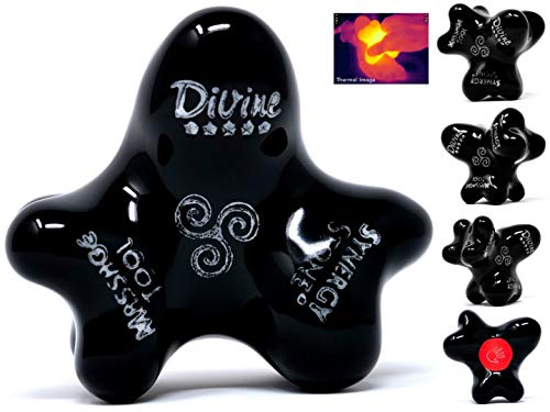 - (Onyx) Divine (Single) Synergy Stone - Pro Hot Stone Massage Tool - Focused Relief for Neck, Arms, Hands, Back, Legs and Feet - Relaxing and Therapeutic - Free YouTube Training Videos