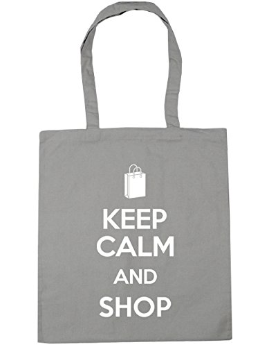 and 42cm Beach Gym Light Shop Tote Calm Shopping litres Bag Grey x38cm Keep 10 HippoWarehouse 0xZEzz