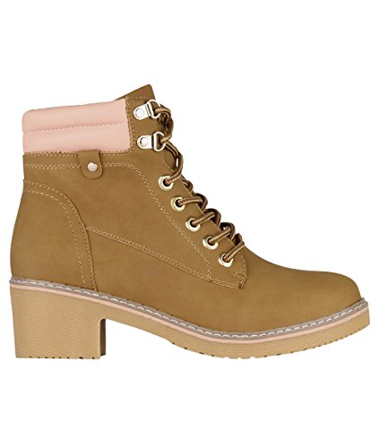 KRISP Low Heel Worker Boots (Camel, US - Womens Nubuck Jacket