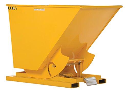 Vestil D-100-MD-YEL Medium Duty Self-Dump Hopper, 1 cu. yd, 4000 lb. Capacity, Overall L x W x H (in.) 61-1/8
