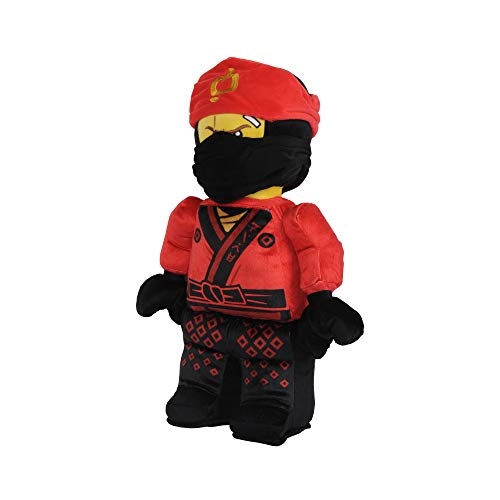 LEGO Ninjago Character Shaped Ultra Soft Plush Cuddle Pillow, Kai Warrior Red/Black -