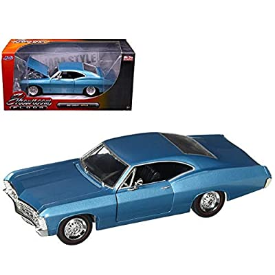 Jada 98911 1967 Chevrolet Impala Blue Showroom Floor 1/24 Diecast Model Car: Toys & Games