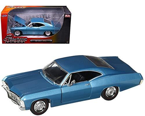 Jada 98911 1967 Chevrolet Impala Blue Showroom Floor 1/24 Diecast Model - Chevrolet Impala Blue
