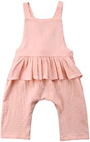 1PCS Baby Girl Kids Outfits Jumpsuits Clothes Ruffle Flounce Overalls Romper for Toddler 9 M - 5 Years