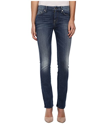 7 For All Mankind Women's Kimmie Straight in Slim Illusion Aggressive Atlas Blue Slim Illusion Aggressive Atlas Blue Jeans by 7 For All Mankind