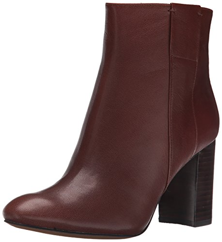 Nine West Women's Whynot Leather Boot Dark Brown uI6Jm