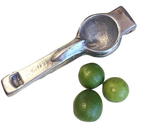 Vintage Lemon Squeezer – Single Press Manual Juicer - Ultra Heavy Duty - Easy To Use - Lemon Lime Juicer - (Mexican Iron)