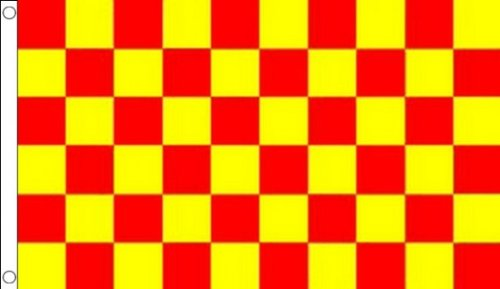 RED AND YELLOW CHECK FLAG 3' x 5' - CHECKERED RACING FLAGS 9