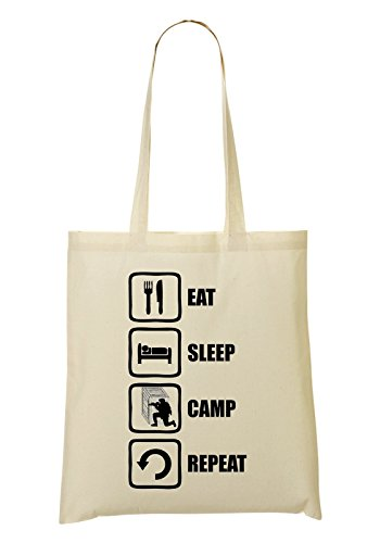 Sac Sac Funny Camp tout Repeat à Eat provisions Gaming Sleep Fourre POUZP8X