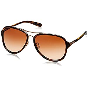 Oakley Women's Kickback Aviator Sunglasses, Satin Rose Gold, 58 mm