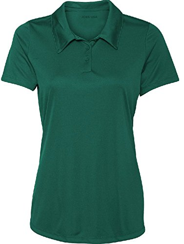 - Ladies' Performance 3-Button Golf Polo (Forest green ,medium )