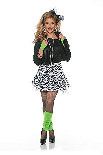 Underwraps Rockin' The 80's Valley Girl Costume - Black/White, -