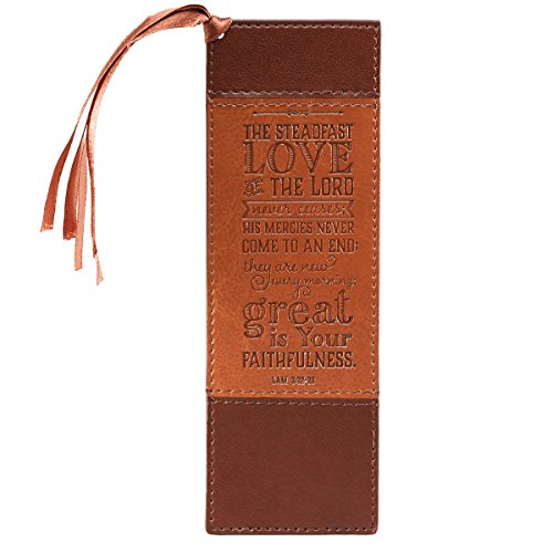 Steadfast Love Two-tone Faux Leather Pagemarker / Bookmark - Lamentations 3:22-23 from Christian Art Gifts