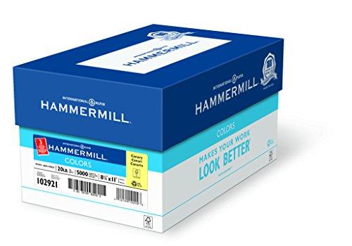 Hammermill Paper, Colors Canary, 20lb, 8.5 x 11, Letter, ...