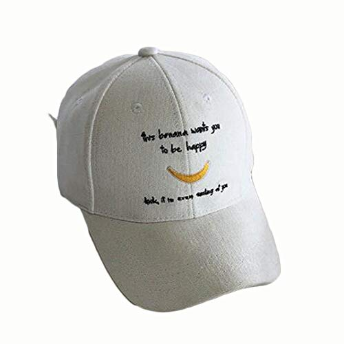 SXBag Men's and Women's Simple Literary and Artistic Letters Embroidered Baseball Cap Corduroy Cap (Color : ()