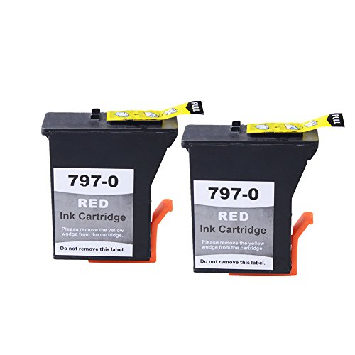 Postage Meter (Aomya 2 Pack 797-0 Postage Ink Cartridge Red NON Fluorescent Replacement for Pitney Bowes DM50 DM55 K700 K780002 K721 RK721 Printer Meter)