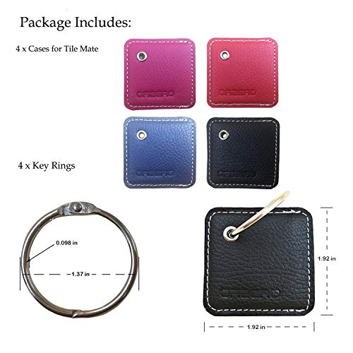 Phone Finder Tile Mate Case Cover with Keychain Key Finder Anything Finder Tile Mate Skin PU Leather Protection -Galaxy ANTS for Tile Slim Finder