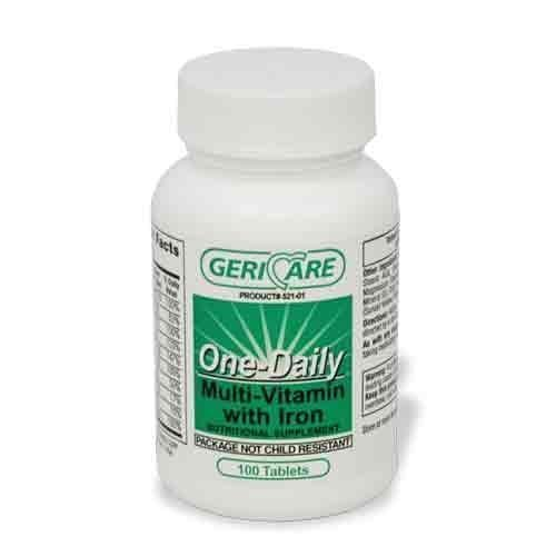 MULTIVITAMIN TAB W/IRON 100/BT (BT) by Geri-Care