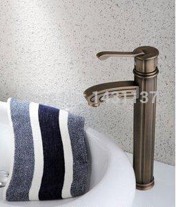 5151buyworld Top Qualität Wasserhahn Luxus Messing Bronzierung Höhe Hebel Classic Badezimmer Wasserhahn Spüle Wasserhahn Wasser mixerfor Badezimmer Küche Home Gaden (begriffsklärung)