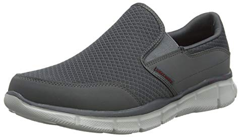 Skechers Men's Equalizer Persistent Slip-On Sneaker, Charcoal, 7 M US