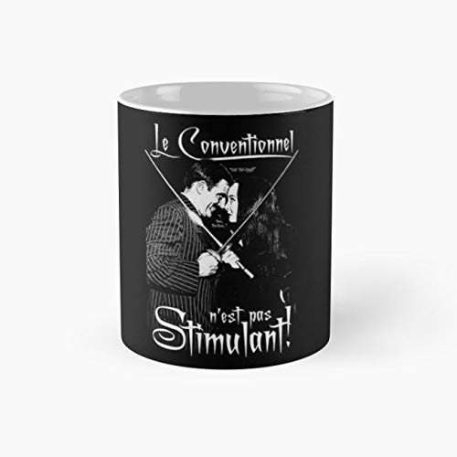 Gomez & Morticia- Le Conventionnel n'est pas Stimulant! Mug, the addams family Funny Mugs, Perfect Novelty Gift Mug, Tea Cups, Funny Coffee Mug 11oz, Tea -