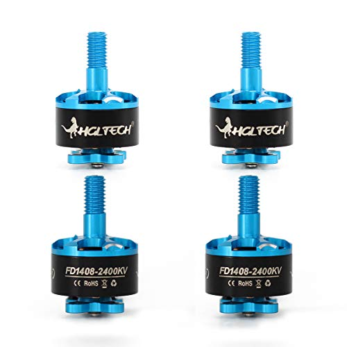 HGLRC Brushless Motor Forward 1408 2400KV Support 5S 6S Battery DIY for FPV RC Racing Drone Quadcopter Complete Motors Multirotors (4PCS)