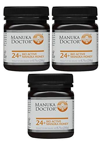 Manuka Doctor Bio Active Honey, 24 Plus, 8.75 Ounce (3 Pack) by Manuka Doctor (Image #1)