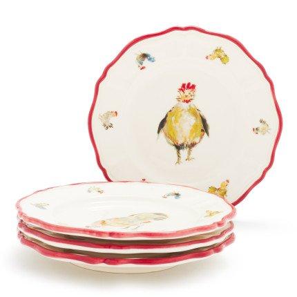 Sur La Table Jacques Pepin Collection Chickens Appetizer Plates 2015/19, Set of - Collection Big Sur