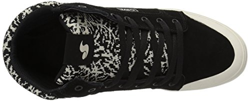 10 WOS DVS Ecru Women's White Shoe Medium Equinox Black Suede Skate US a4Twz4x