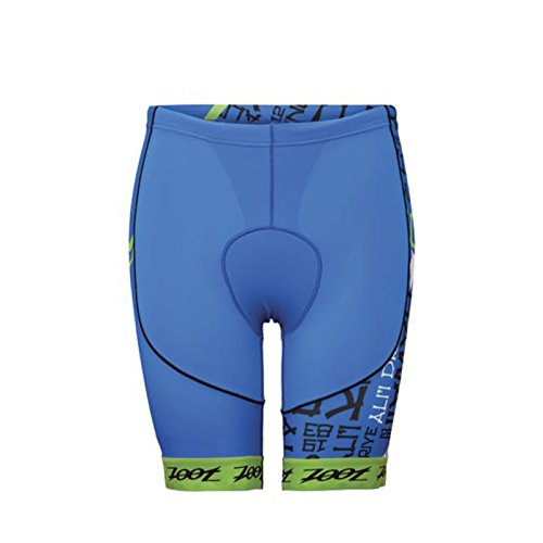 (ZOOT SPORTS Men's Ultra Tri Ali ' I 8-Inch Short, X-Small, Zoot Blue/Green Flash)
