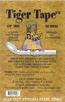Tiger Tape 1/4'' (.25 inch) guide for evenly spaced stitches 9 lines per inch by Tiger Tape