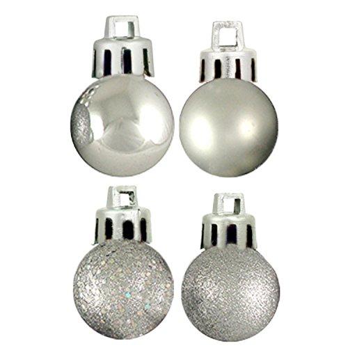 18ct Silver Splendor 4-Finish Shatterproof Christmas Ball Ornaments 1.25 (30mm)