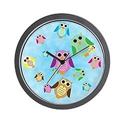 CafePress Owl Unique Decorative 10 Wall Clock