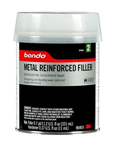 - Bondo 90451 Metal Reinforced Filler, 0.7 pint