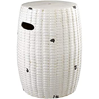 Amazon.com: Green Ceramic Drum END Table   EICHHOLTZ ...