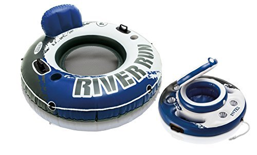 Intex River Run I Inflatable Floating Tube Raft with Mega Chill Cooler by Intex