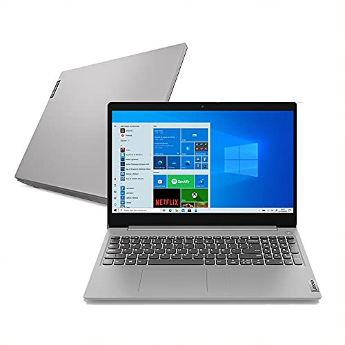"Notebook Lenovo IdeaPad 3i, Intel Celeron, 4GB RAM, 128GB SSD, Windows 10, 15.6"", Prata"