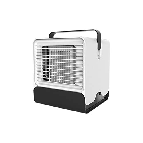 chenJBO2019 USB Portable Mini Air Conditioner, Humidifier, Purifier, with LED Lights, Quick & Easy Way to Cool Any Space, for Bedroom, Office, Outdoor (White)
