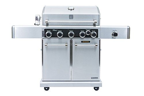 Kenmore Elite  PG-40506SRLD Stainless Steel 5 Burner Outdoor Patio Gas BBQ Propane Grill Includes Side Burner Searing Burner and Rotisserie in , Stainless Steel