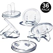 Outlet Covers, Child Proof Safety Electrical Plugs Protector, Baby Proof Transparent Safety Caps (36Pack) by CalMyotis