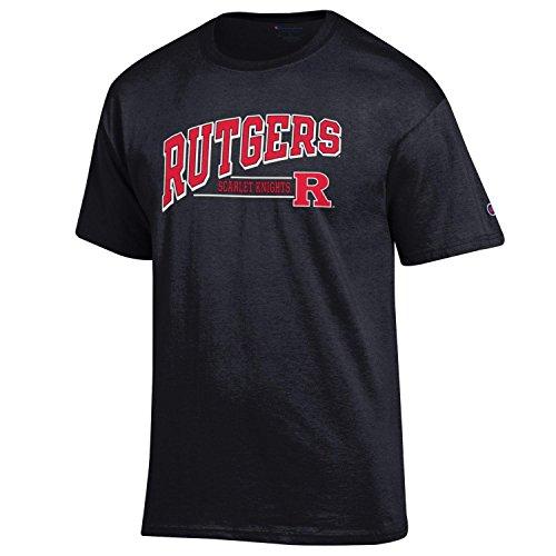 NCAA Rutgers Scarlet Knights Men's Champ Short Sleeve T-Shirt 4, Small, Black