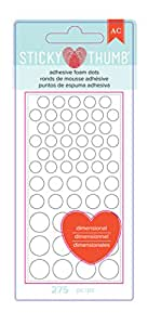 American Crafts 340272 275 Piece Sticky Thumb Dimensional Foam Dots