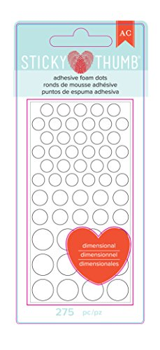 American Crafts 340272 275 Piece Sticky Thumb Dimensional Foam Dots ()