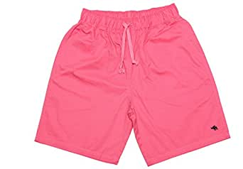 Soyoo Women's 100%Cotton Casual Sport Shorts Solid US0-6 Peach