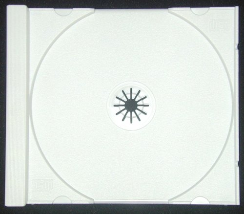 (25 Solid White Colored Replacement CD Trays / Inserts for CD Jewel Boxes! #CDIR80SW- Fits any standard size 10mm Jewel Box!)