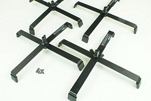 4 Stück Floorstand FS1 Schwarz Bodenstativ 215 x 215 mm
